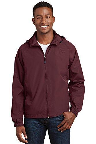 LONDON FOG Men's Auburn Zip-Front Golf Jacket (Regular & Big-Tall Sizes), Maroon, X-Large