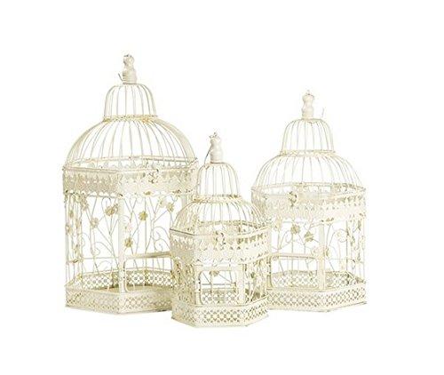 Lot de 3 cages en fer blanc