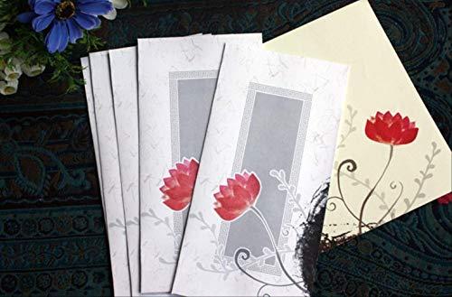 1 Satz Umschlag Briefpapier Umschlag Set Lotus Schöner Lotus Briefkopf