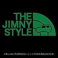 ジムニー 4代目JB64/JB74系ステッカー THE JIMNY STYLE【カッティングシート】パロディ(12色から選べます) (グリーン)