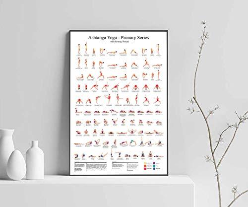 Ashtanga Yoga Poster, Yoga Poster, Ashtanga Yoga Poses Poster, Ashtanga Primary Series Satin - Poster Print Poster Unframed - Wall Art Home Decor Print