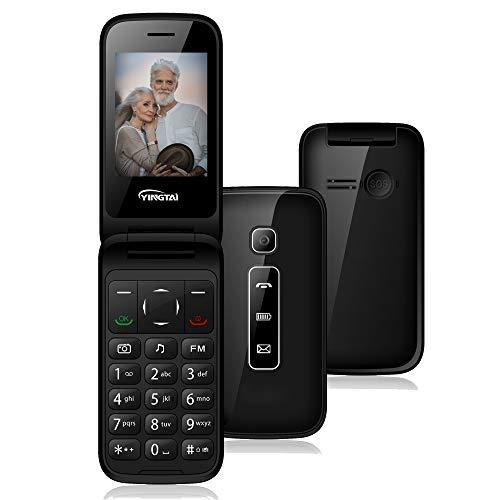 Teléfono Móvil para Personas Mayores Teclas Grandes con Tapa de Emergencia Botón SOS Fácil de Usar para Ancianos T31 3G by YINGTAI