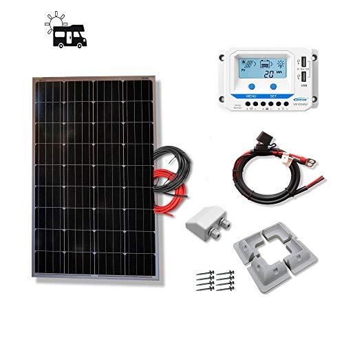 VIASOLAR Kit 100W Camper 12V Panel Solar monocristalino células alemanas