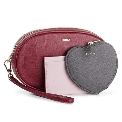 FURLA Tris - beauty case Electra Ciliegia + Asfalto (1033996)