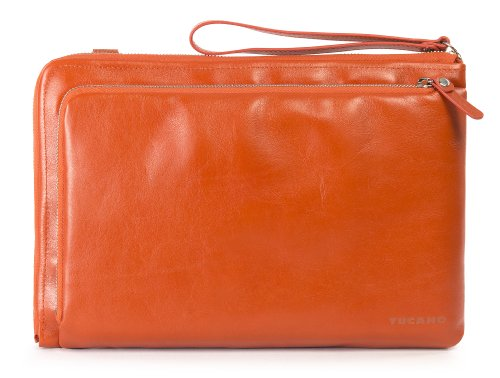 Tucano BEL11-O Elle Damen Notebook Tasche aus Leder, 38,1 cm (15 Zoll) orange