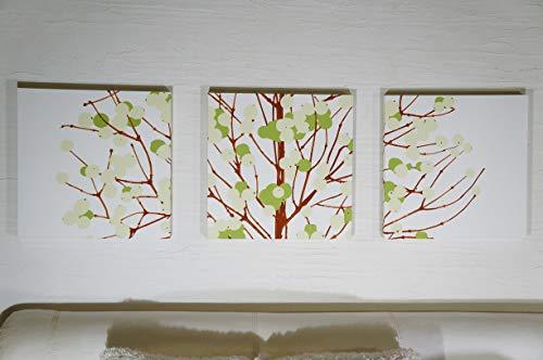 北欧 Alice アートパネル 掛けフック付きファブリックパネル LUMIMARJA GREEN 40×40×2.5cm 3枚セット グリーン インテリア 人気 お洒落 木の実 ルミマルヤ