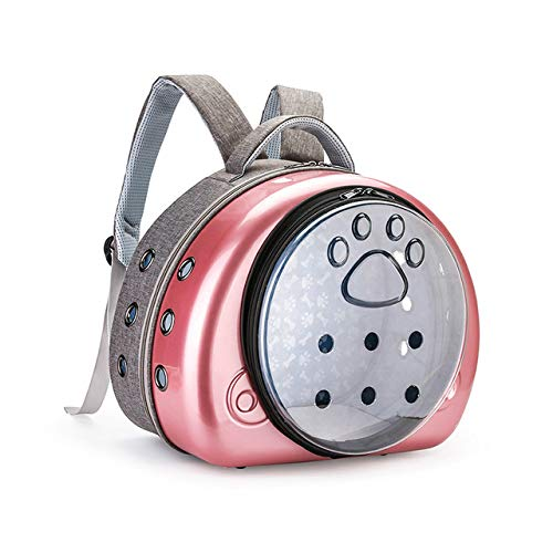WPET Mochila para Gatos Bolsa de Transporte Cachorro Transparente Transpirable Bolsa para Gatos Gatos Caja Jaula Perro pequeño Bolsa de Viaje para Mascotas Bolso para Chihuahua, Oro Rosa, M