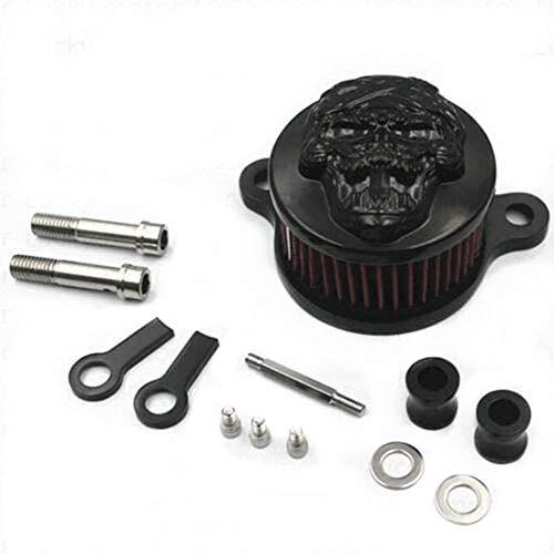 Filtro de aire para motocicleta, sistema de filtro de admisión para Harley-Davidson Sportster 883 1200 (Grimasse negro (E))