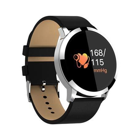 QWERTYU Q8 Plus Rose Smart Horloge Geolied Kleur Scherm Smartwatch Vrouwen Mode Fitness Tracker Hartslagmeter Polsband Stappenteller LIJIANME