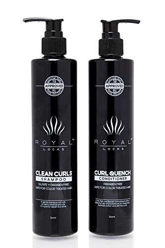 Royal Locks Clean Curls Shampoo and Curl Quench Conditioner Set