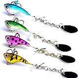 Señuelos de Pesca 4 Piezas 8.8 CM 11G Cebos Artificiales Spinning Bait Crankbait Biónico Spinner Cebos Pesca Truchas Señuelos Swimbait Lure Buzzbait Fishing Jigs