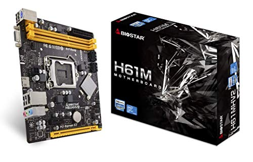 BIOSTAR H61MHV2 Ver. 7.0 Motherboard 2nd & 3rd Generation Core i7 / i5 / i3 / Pentium/Celeron Processors LGA 1155 CPU Socket Supports DDR3 2 x USB 2.0 Connectors GbE LAN Supports