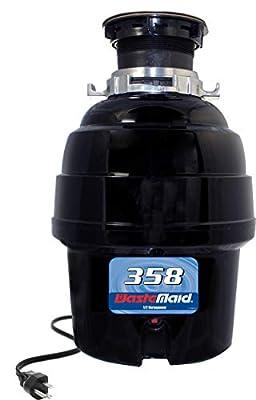 Waste Maid Garbage Disposal, 1/2 HP Heavy Duty, Black