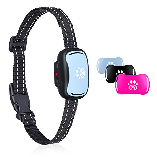 Small Dog Bark Collar, Smallest Anti Barking Collar with Beep, Vibrate, Humane No Shock Bark Collars for Small, Medium Dogs, Pet Training Collars