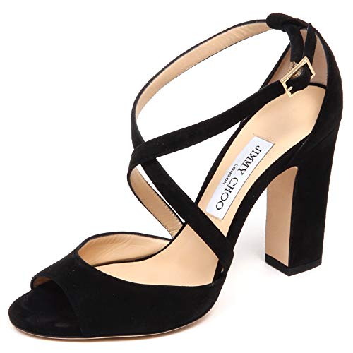 F0850 Sandalo Donna Black JIMMY CHOO Carrie Scarpe