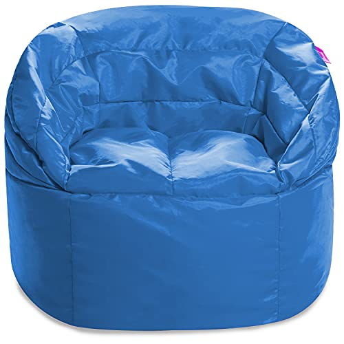 Posh Creations Structured Comfy Seat for Playrooms and Bedrooms, Large Bean Bag Chair, Sonoma Lounger, Royal Blue