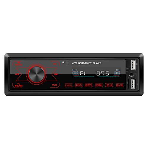 Domybest Autoradio mit Bluetooth Freisprecheinrichtung 7 Beleuchtungsfarben Handy Aufladen über 2. USB Anschluss USB, SD, MP3, AUX-IN, 1 DIN