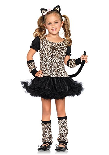 Leg Avenue C48129 Kostüme, Unisex-Kinder, leopard, L