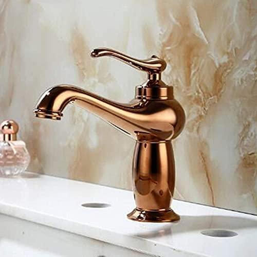 ZRN Torneira de cozinha de latão Antigo, torneira de Pia de alça única, torneira de Pia de Mistura de água Quente e Fria, usada na cozinha, banheiro, Vaso sanitário