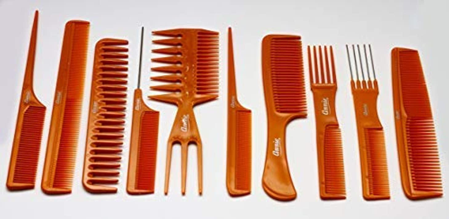 夕方高速道路解き明かすAnnie 10 Piece Professional Comb Set color - Bone, perfect for styling hair, hair style, hair stylist, long hair, short hair, for all hair lengths [並行輸入品]