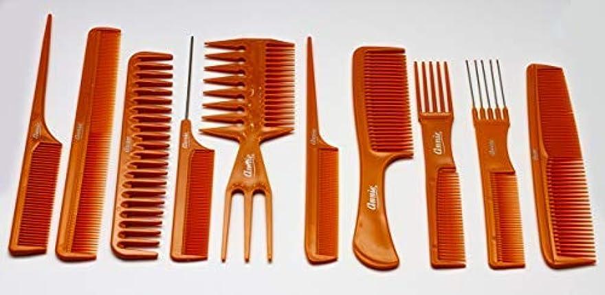 アレルギー移動する落ちたAnnie 10 Piece Professional Comb Set color - Bone, perfect for styling hair, hair style, hair stylist, long hair, short hair, for all hair lengths [並行輸入品]
