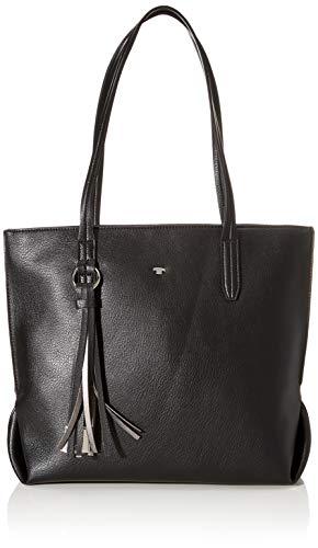 TOM TAILOR Shopper Damen, Schwarz, Lucca, 37x14x28 cm, Handtasche groß, Umhängetasche