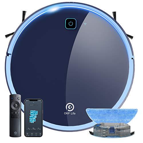 掃除・水拭き両用ロボット掃除機 静音設計 お掃除ロボット 水拭き 床拭き 拭き掃除 床掃除 全自動 ロボットクリーナー Wi-fi接続 アプリ対応 自動充電 知能自動掃除機 予約清掃 薄型 一人暮らし 引っ越し 新生活応援 OKP K7 拭き掃除機