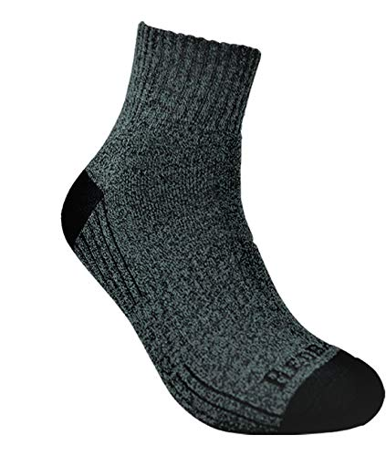6 Pack Everyday Bamboo Quarter Length Ankle Sock Heather Grey