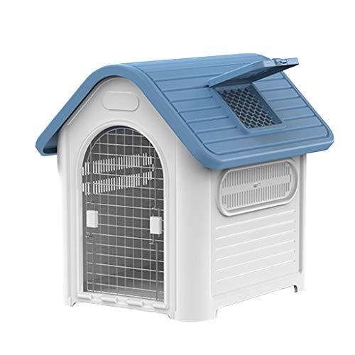 KatzenBett Hundehütte im Freien mit Tür, Wasserbeständiges Haustierhaus, Haustierzelt Bett für kleine bis große Hunde, Leicht zusammenzubauen, Perfekt für Hinterhöfe