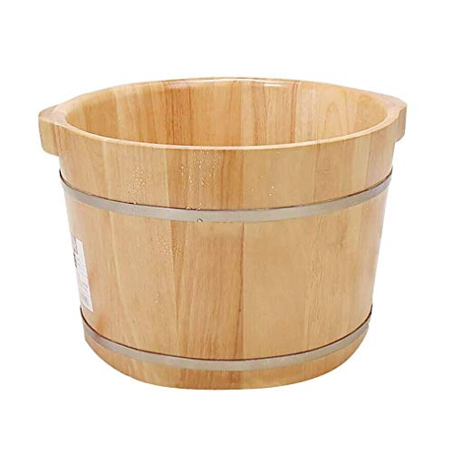 New LJBXDCZ NJ Foot tub- Household Wooden Foot Tub, Foot Bath Massage Bucket, Promote Blood Circulat...