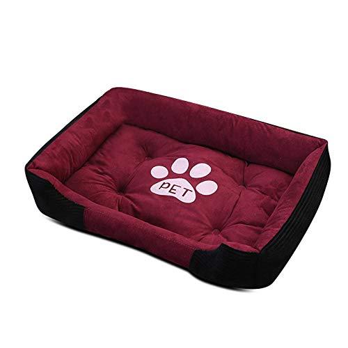 PETCUTE Cama Perro Pequeños Medio Grandes Cama para Mascotas Lavable Perro Sofá Suave Cesta Perros con Almohada pequeña M-60×45×15CM