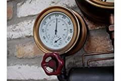 Casadomu Steampunk Clock Industrial Pipe Wall Hanging Large Rustic Cogs Decor Timepiece #3