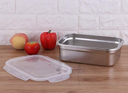 Signoraware Modular Rectangular Stainless Steel Container, 2.7 Litre, Silver