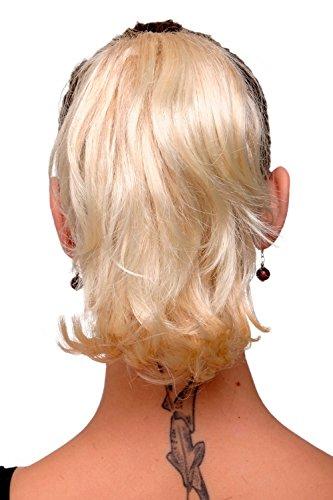 WIG ME UP - Extension postiche blond platine mélange court rebelle maintien avec pince-papillon 20 cm T6545-24BT613