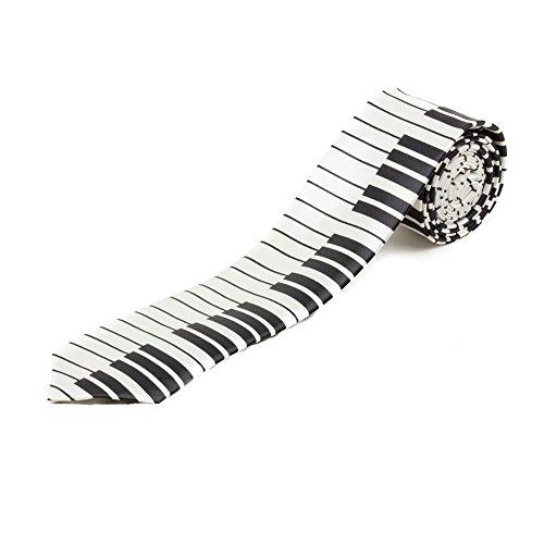 Fashion Cravate Motif Clavier Piano Unisexe Coupe Slim