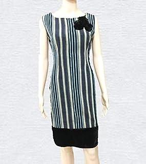Emoltem Women's Sleeveless O-Neck Dress (UK Size 14 - Large)