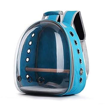 HavanaYZ Sac de transport pour perroquet respirant 360° Transparent bleu clair
