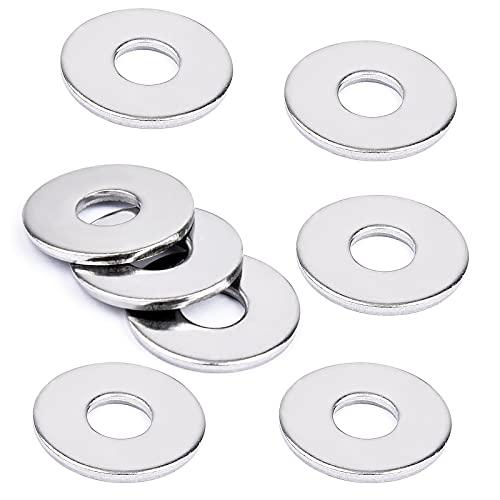 VIGRUE 50 Stück große Flach Unterlegscheiben M6 DIN 9021 A2-70 Edelstahl Beilagscheiben Flat Washers