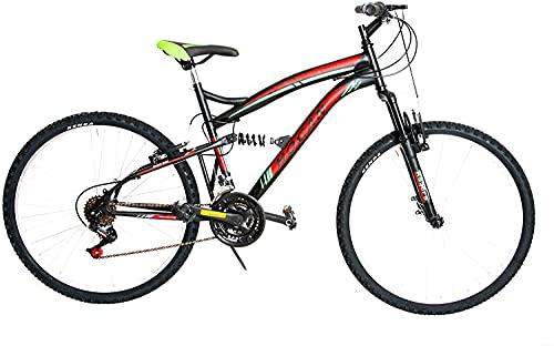 Specialbike F.LLI MASCIAGHI Bici BIAMMORTIZZATA 26' 18 Velocita Cambio SAIGUAN Colore Base Nero-Rosso-Verde*** Bicicletta Bike*****Ok-