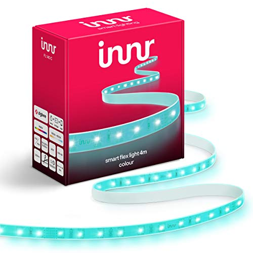 Innr Flex Color, 4m Smart LED Strip, compatible con Philips Hue* & Alexa (Puente Requerido) 4 metros Tira LED RGBW, FL 140 C