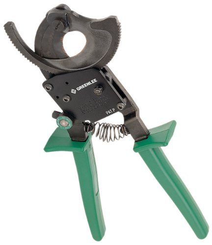 Ratchet Cable Cutter, Center Cut, 10-1/2In