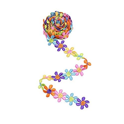 LCHB Color Flor De Encaje La Cinta Costura Diy Bordado DecoracióN Pura Collar Cuello 3d Bouquets PestañAs Racimo Por El Ojal Del Patio Delicado Corbatas Con Frilidad CordóN Cabeza Novia Ropa Accesorio