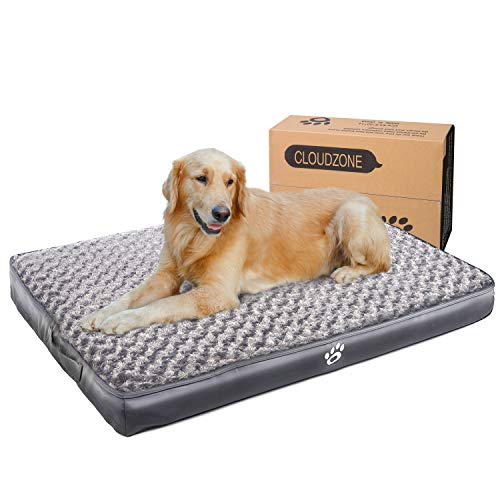 CLOUDZONE Orthopedic Dog Bed | Pet Bed Mattress with Removable Zipper Covers | Egg-Crate Foam Washable Dog Bed for Small/Medium/Large Dogs(XL/XXL/XXL)|Dog Crate Bed with Lining and Non-Slip Bottom Bed Pillows