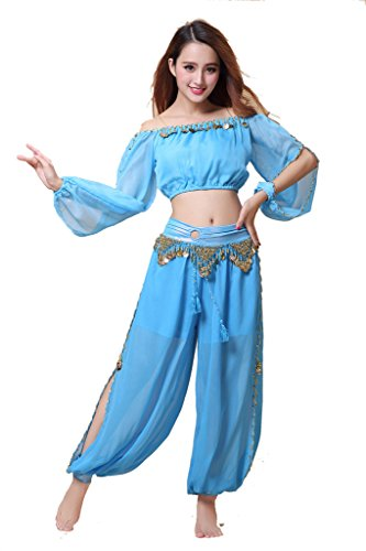 ZLTdream Belly Dance Chiffon Long Sleeves Top and...
