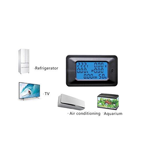 Qiman 20 / 100A AC LCD Digital Panel Leistung Watt Meter Monitor Spannung KWh Voltmeter Amperemeter