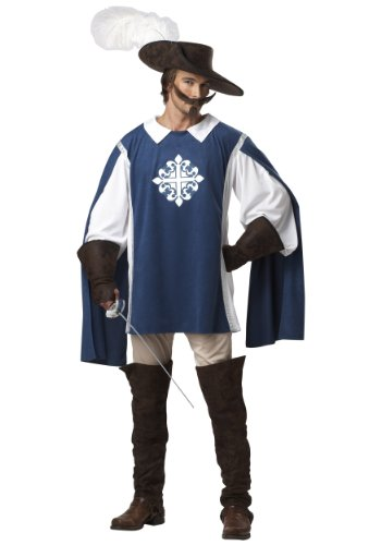 California Costumes Brave Musketeer Costume X-Large Blue