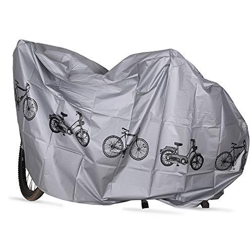 Cubierta de bicicleta Jsdoin Cubierta de bicicleta impermeable Anti polvo Lluvia Anti nieve Protección UV Cubierta de bicicleta Almacenamiento de bicicletas para bicicleta de montaña