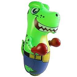 4. JOYIN 47″ Inflatable T-Rex Dinosaur Bopper Punching Bag