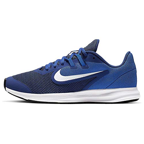 Nike Downshifter 9 (GS), Zapatillas de Running para Asfalto Unisex Niños, Multicolor (Deep Royal Blue/White/Game Royal/Black 400), 38.5 EU