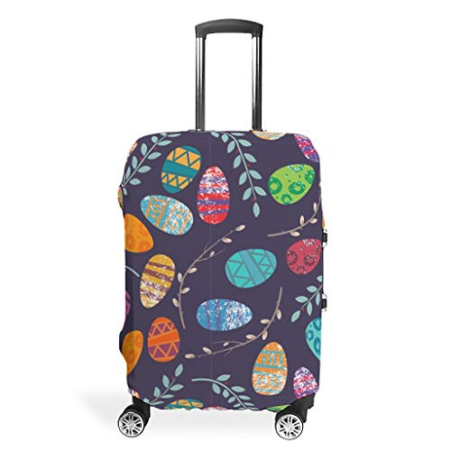 Luggage Cover Easter Washable Suitcase Protector No Dirty Fit Easily Four Sizes to Choose Anti-Scratch Suitcase Cover Fits 18-32inch Perfect Gift for Christmas White s (19-21 inch)